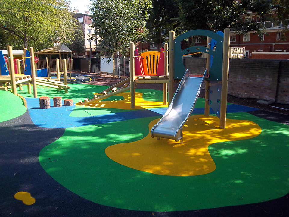 Playground wet poured rubber surfacing