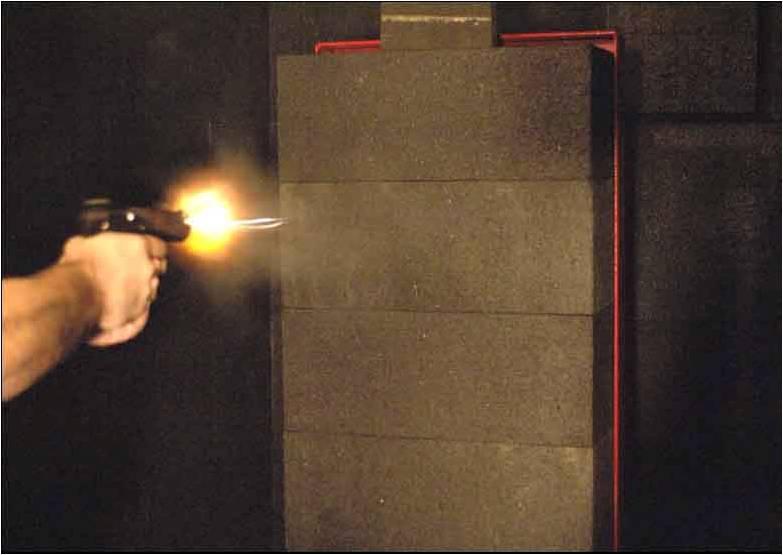 Anti-Ricochet Shooting Tile